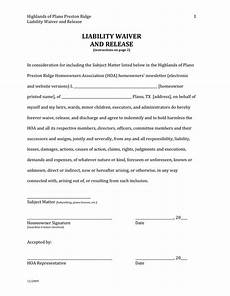 liability waiver and release in word and pdf formats
