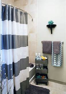bathroom ideas for apartments remarkable ways to inspire with striped curtains