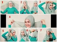 Cara Memakai Jilbab Segi Empat Kerudung Belajar Cara Cara9