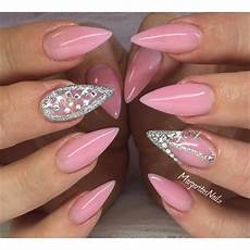 42 most beautiful pink stiletto nail art design ideas for