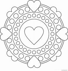 mandala coloring pages hearts 17922 37 best 192 colorier st valentin images on