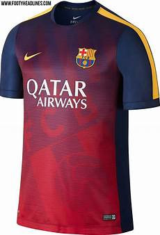 new fc barcelona 2015 and pre match shirts