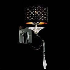 brizzo lighting stores 8 quot bello nero contemporary crystal wall sconce black chrome with shade 1