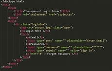 design transparent login form in html css html login page design it problem solved