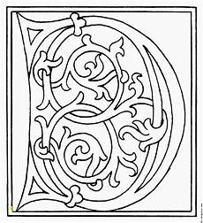 Ausmalbilder Buchstaben Mittelalter Illuminated Letters Coloring Pages Divyajanani Org