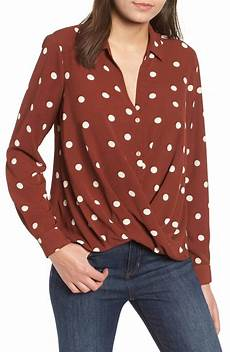 patterned drape front blouse work tops 50 popsugar fashion photo 7