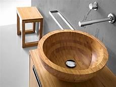 Waschbecken Aus Holz - holzwaschbecken aufsatzwaschbecken massivholz natur rund
