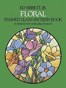 floral stained glass pattern book dover stained glass