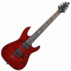 Schecter Damien Elite 7 7 String Guitar Crimson Ex