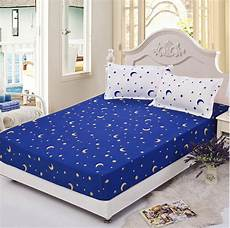 blue star full queen size 1pcs bed sheet fitted sheet printing sheets bedsheet bedding bed
