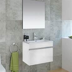 meuble salle de bain 60 cm avec miroir cubo