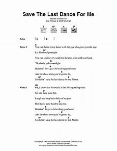 save the last dance for me sheet music by the drifters lyrics chords 49359