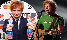 male singer with red hair at the 2015 grammys brit awards 2012 winners ed sheeran scoops best male artist and british breakthrough act