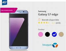 le samsung galaxy s7 edge bleu bient 244 t disponible chez