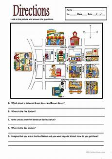 giving directions worksheets esl 11669 directions with images nauczanie edukacja klasa