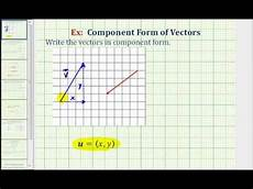 find the component form of a vector from the graph of a vector youtube