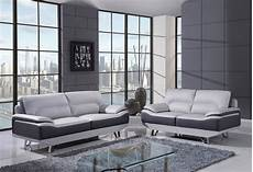 u7330 sofa in light grey bonded leather by global