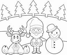Ausmalbilder Rentiere Weihnachtsmann Kostenlose Malvorlage Weihnachten Rentier Schneemann Und