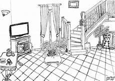 dessin d un salon coloriage salon