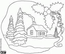 ausmalbilder weihnachten landschaften malvorlagen