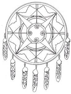 american mandala with bows and arrows coloring page