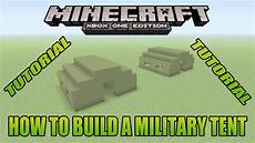 minecraft xbox edtition tutorial how to build a military tent youtube