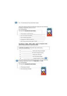 subordinating conjunctions differentiated worksheets a way home context teaching