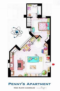 sitcom house floor plans artsy architectural apartment floor plans from tv shows 9