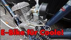 benzinmotor selbst ans fahrrad bauen e bike war gestern