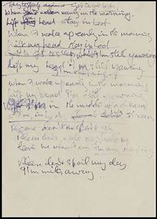 Tittenhurst Park Lennon S Handwritten Lyrics For Quot I