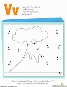 letter dot to dot v worksheet education com