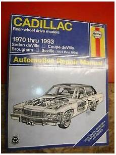 manual repair autos 1993 cadillac seville on board diagnostic system 1970 1993 cadillac deville seville brougham haynes repair manual service ebay