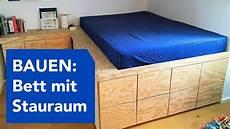 Bauen Podest Bett Mit Viel Stauraum