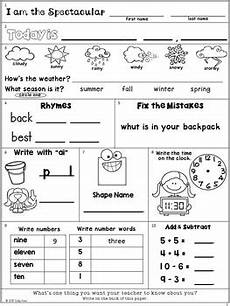 morning work freebie second grade august packet by ames tpt