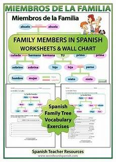 worksheets la familia 18350 family tree worksheets by education tpt