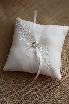 wedding ring pillow ring bearer pillow for rustic wedding made from ivory duchess satin and