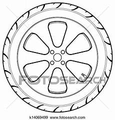 Car Or Truck Tire Symbol Clip K14069499 Fotosearch
