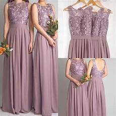 Dusty Mauve Bridesmaid Dresses For Wedding With Lace