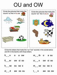 learning station phonics worksheet ou and ow