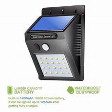 outdoor solar l waterproof pir motion sensor wall light