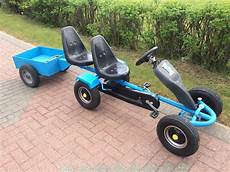 2 seater pedal go kart with trailer spares in