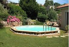 piscine bois octogonale semi enterrée piscine en bois oc 233 a octogonale distripool