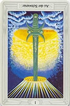 As Der Schwerter - tarotkarte as der schwerter