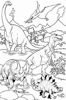 Dino Malvorlagen Gratis Ausmalbilder Dinosaurier With Images Map Diagram