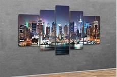 kunstdruck new york city skyline manhattan bei nacht