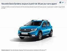 Lld Une Dacia Sandero 224 3 Euros Par Jour Actu Automobile