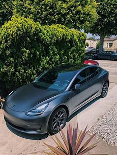 tesla model 3 gray chrome tesla model 3 satin dark gray w chrome delete with