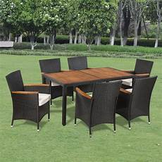 mobili sedie vidaxl set mobili giardino in polirattan 6 sedie e tavolo
