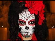 Sugar Skull Mexican Day Of The Dead Makeup Tutorial