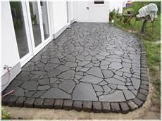 polygonalplatten verlegen trasszement natursteinarbeiten